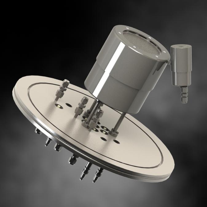 Design of ECR source for Ø90mm beam, mounted on a Ø320mm flange