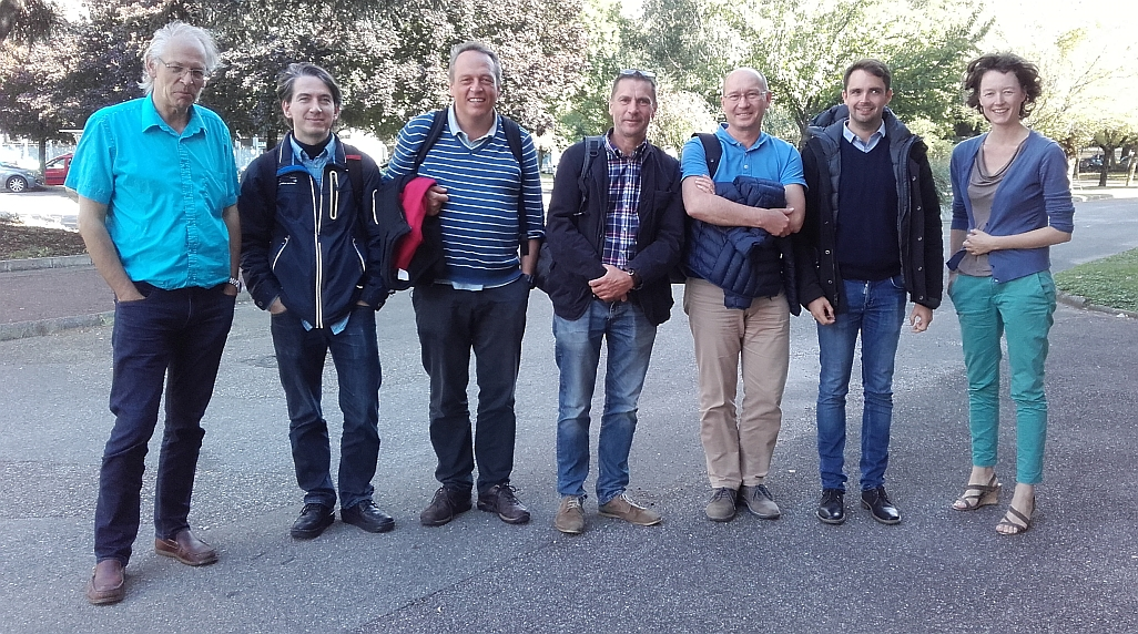 photo of seven of the collaborators of the Eurostars COMBIMAT project